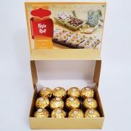 Ferrero with Kaju Katli