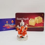 Sitting Ganesha with Soan