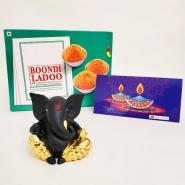 Elegant Ganesha with Boondi