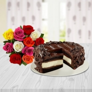 Chocolate Cheesecake with Bouquet