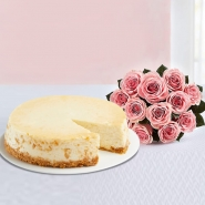 Cheescake with Bouquet