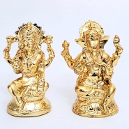 Metallic Lakshmi Ganesha