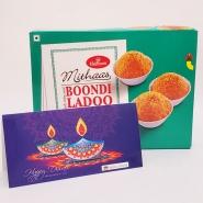 Boondi Laddoo with Diwali card