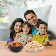 Family Personalized Cushion with Nuts