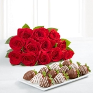 Red Roses And Strawberries