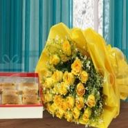 Yellow Roses with Milkcake