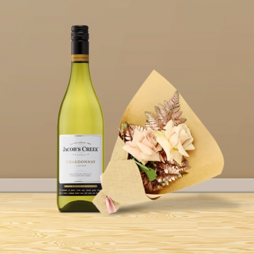 Flowers with Chardonnay