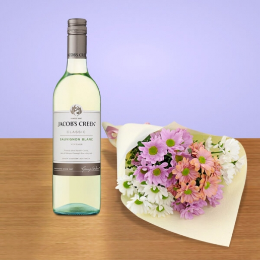 Flowers with White Wine