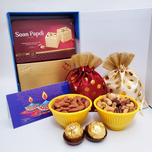 Diwali Chocolate and Nuts Gift