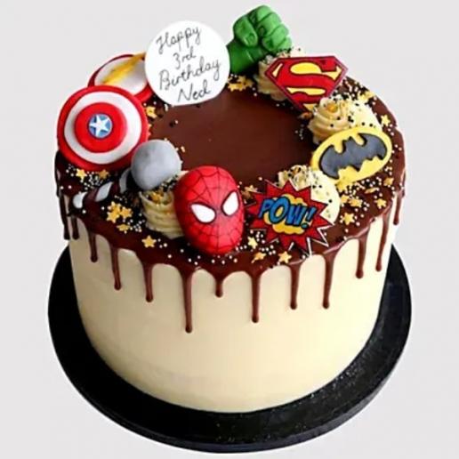Avengers Birthday Chocolate Cake