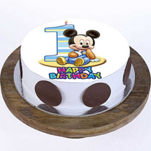 Bday Mickey Mouse Cake
