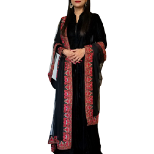 Black Velvet Anarkali Suit