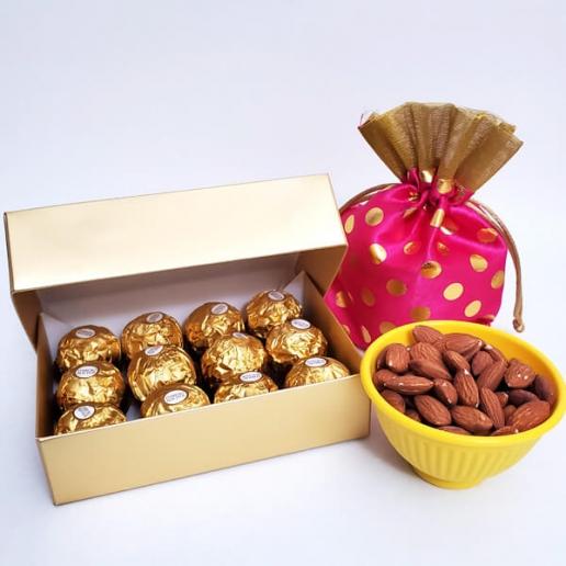 Fererro and Almonds