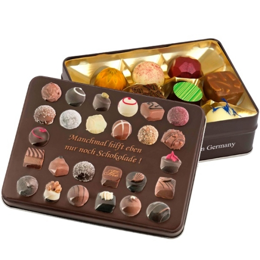 """Gift Box """"Sometimes Only Chocolate Helps"""""""