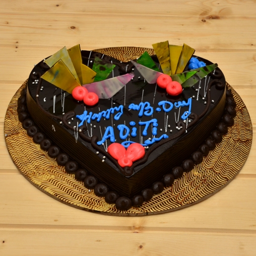 Heart Truffle Cake