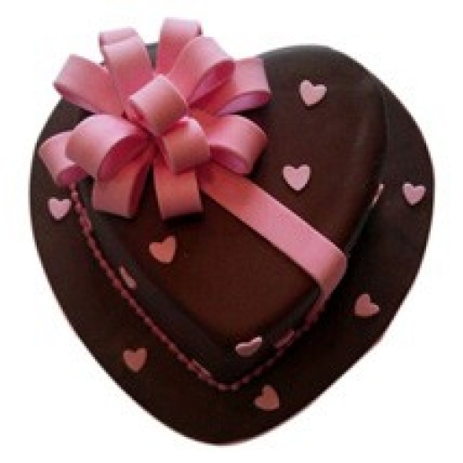 Heart Gift shaped Cake