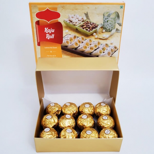 Ferrero and Kaju Roll