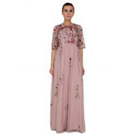 Lavendar Pink Long Dress