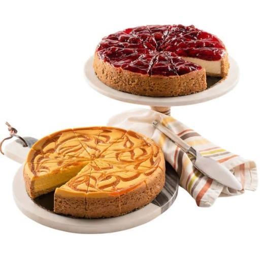 Mango & Strawberry Cheesecake