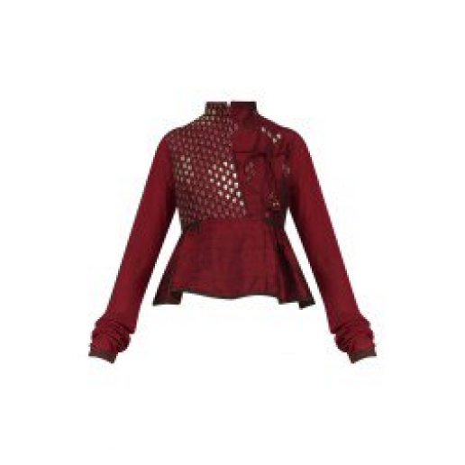 Maroon Raw Silk Blouse