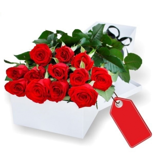 One Dozen Gift Boxed Red Roses