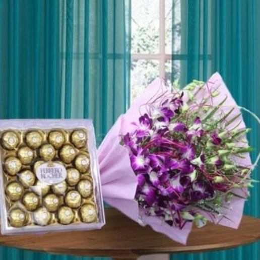Orchids and Ferrero