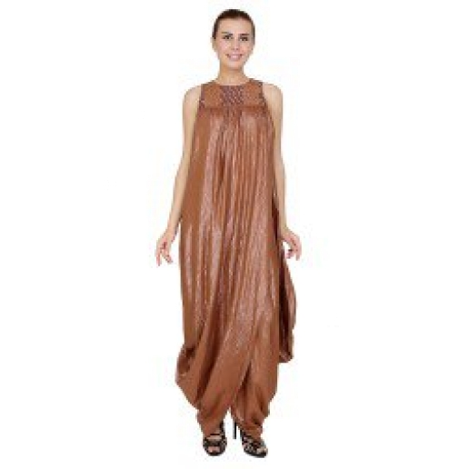 Shimmery Bronze Dhoti Dress