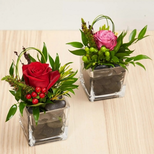 Set Of 2 Flower Vase