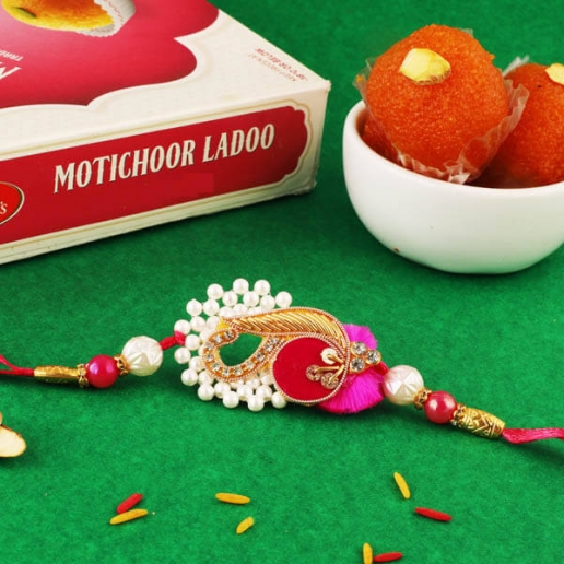 Traditional Mod Rakhi & Boondi Laddoo
