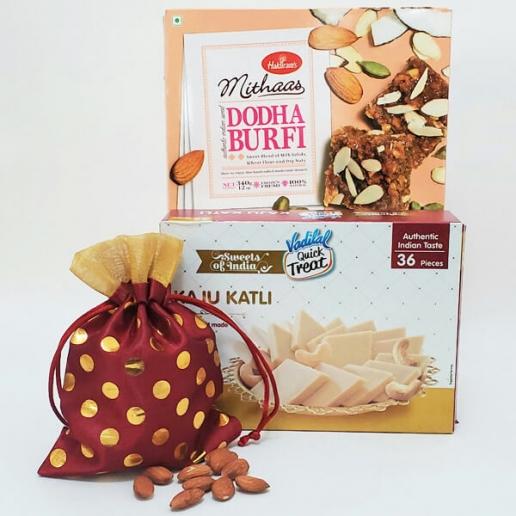 Dodha, Barfi & Almonds