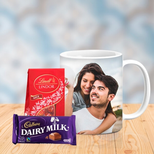 Romantic Personalized Mug with Chocos