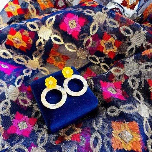 Blue Pink Banarasi Dupatta gift set