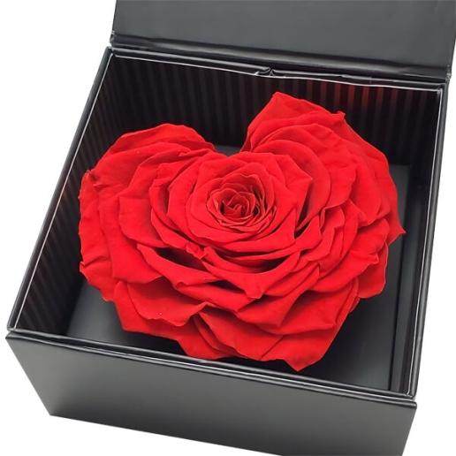 Eternal Red Heart Rose
